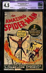 Amazing Spider-Man #1 CGC Restored 4.5 Silver Age March 1963 Key Grail Comic