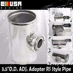 3.5 1/2 O.d. Fit Greddy Adj. Type Rs S Blow Off Valve Bov Flange Adapter Piping