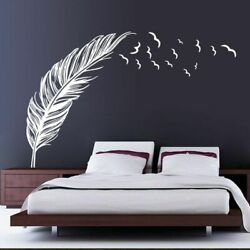 Wall Birds Feather Decal Stickers Flying Bird Bedroom Home Mural Art Decoration