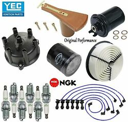 Tune Up Kit Spark Plugs Wire Rotor Cap Filters For Toyota Supra 1986-1988