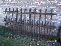 Antique Iron Cemetery Fencing Architectural Steam Punk Goth Garden Cross Wraught