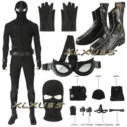 Customize Man Far From Home Noir Stealth Suit Cosplay Costume Halloween Outfit