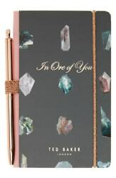 Ted Baker Mini Notebook With Pen BN Designer Womens Stationary Book Gift
