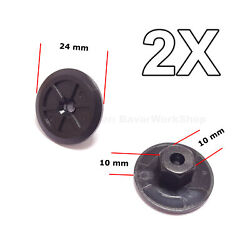 2x Unthreaded Nylon Nuts, Mounting Clips For Bmw, Volkswagen, Seat, M-benz