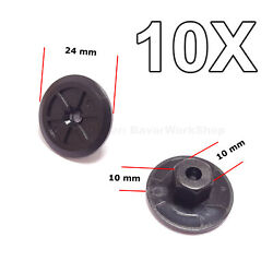 10x Unthreaded Nylon Nuts, Mounting Clips For Bmw, Volkswagen, Seat, M-benz