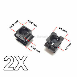 2x Engine Undertray Cover Clips Lower Guard Panel Retainer For Audi Vw Seat