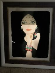 """Rene Gruau... Signed And Numbered Lithograph 213/300 """"la Voilette"""