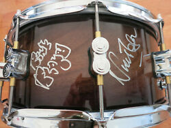 Nick Mason Signed Snare Drum Dw Ltd Acoa Proof Pink Floyd Autographed Drumhead