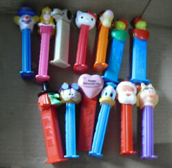 Lot Of 13 Pez Dispensers Cartoon Characters Disney And Others