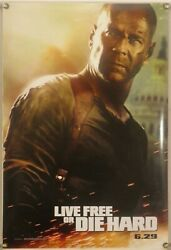 Live Free Or Die Hard Ds Rolled Orig 1sh Movie Poster Bruce Willis Action 2007