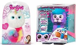 Pomsies Luna Exclusive Plush Interactive Toys And Wrapples Shora Combo