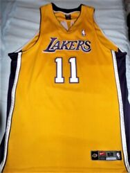 Nike Drifit Authentic Karl Malone Los Angeles Lakers Authentic Jersey 52 2xl Xxl