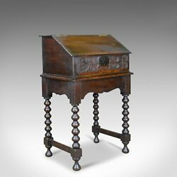 Antique Bible Box on Stand William & Mary Oak Writing Circa 1690 and Later