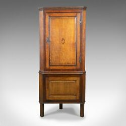 Antique Corner Cabinet on Stand George III Oak Mahogany c.1770 and Later