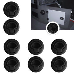 8x Black Plastic Boat Deck Hatch 1/2and039and039 Door 2and039and039 Flush Pull Slam Latch Marine