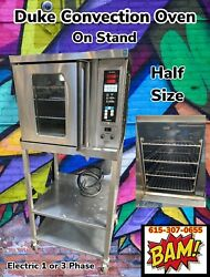 Duke 5/9-e3v-59-bs Commercial Half-size Electric Convection Oven W/ Base Stand