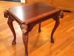 Wood Hand Carved Accent Horse Table Classic Georgian Reproduction 700 Ea