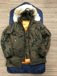 Louis Vuitton Supreme Down Jacket Coat Hoody Parker Camouflage 46 size Auth New