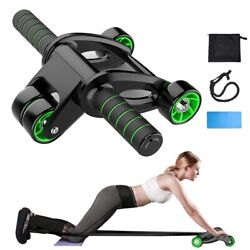 GR Foldable Abdominal wheel Abdominal Fitness Equipment Roller With Mat