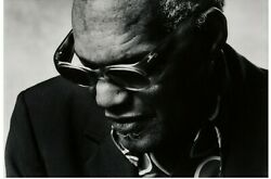 Original 1985 Photo Ray Charles 10-5/8 X 15-7/8 Signed By Norman Seeff