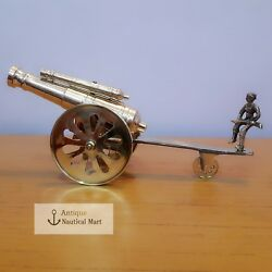 Brass Double Barrel Cannon Beautiful Home Decorative Antique Gift
