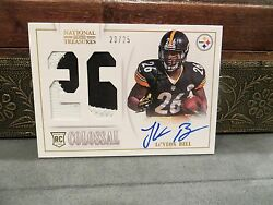 National Treasures Autograph Colossal Rookie Steelers Leand039veon Bell 23/25 2013
