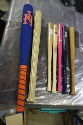 Lot Of 7 Assorted Bats Collectible Decorative Mixed Colors And Brands