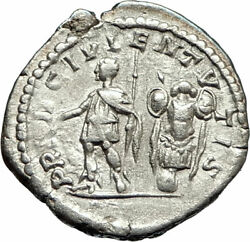 Geta With Club 200ad Rome Silver Ancient Roman Coin Trophy Tropaion I76741