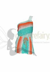 Sexy Missoni Sequin Crochet Knit One Shoulder Jumpsuit Romper Playsuit Overall