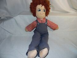 Collectible Primitive Raggedy Andy 22 Doll Antique Vintage Ooak Handmade