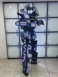 AMAZING LED ROBOT COSTUME ROBOTS SUIT DJ TRAJE PARTY SHOW GLOW SUITS