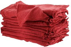 2500 Pieces Industrial Shop Rags / Cleaning Towels Red
