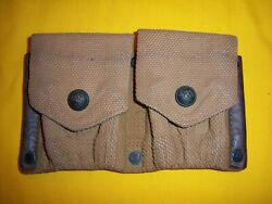 Rare Usmc 1910-13 Ea Snap Depot Modified Rifle Cartridge Belt Two Cell Pouch