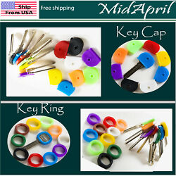 Key Caps  ring Tags  Rubber Key Identifier Cover Color Coded Key ID