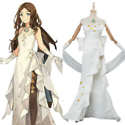 FGO Fate Grand Order Leonardo da Vinci Cosplay Costume White Dress Weeding Veil