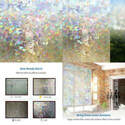 Privacy Stained Glass Window Peel Stick Windows Doors Decorative Cling Film