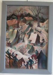 Gladys Kelley Fitsch Oil Painting By Old Lyme, Ct. Art Colony Artist Great Image