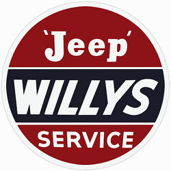 Extra Large Format Willys Jeep Service Sign 30 Round