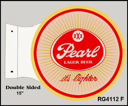 Pearl Lager Beer It's Lighter Bar And Restaurant Sign