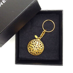 Key Ring Key Holder Coco Gold Woman Authentic Used Y3468