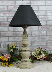 Katie's Large Liberty Table Lamp With Punched Tin Shade - Rustic Country Colors