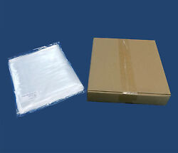 1000 Plastic Poly Bags 7x10 1-mil Clear Flat Open Top End Baggies