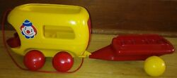 Tonka Toddlers 6999 Vintage Circus Car And Wagon Push And Pull Toy Durable Euc