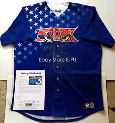 Chase Headley 2x Signed Game Used Lake Elsinore Storm Jersey Psa/dna Auto Rare