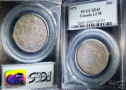 1870 Canada Fifty Cents ,pcgs Xf45