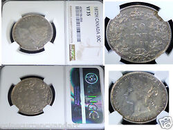 1872h Canada 50 Fifty Cents , Ngc Certified Vf35