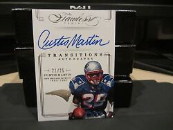 Panini Flawless On Card Autograph Transitions Patriots Curtis Martin 21/25 2014