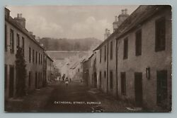 Cathedral Street DUNKELD Scotland RPPC Real Photo Antique PERTH Scottish 1910s