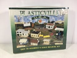 Bachman Plasticville Firehouse With Vehicles O Scale Building Kit 45610