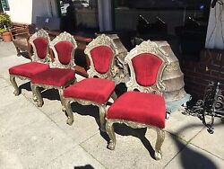 Four Silver Overlay Chairs